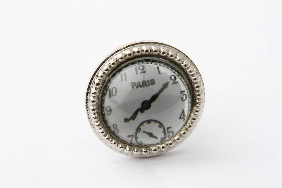 Paris Clock Drawer Knob