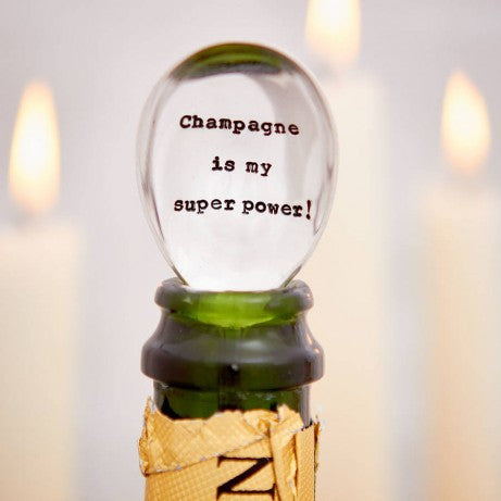 'Champagne Is My Superpower' Vintage Champagne Spoon