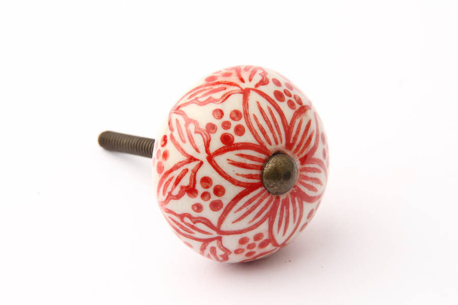 Moorish Style Red Drawer Knob