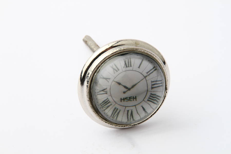 Roman Numerals Clock Drawer Knob