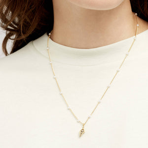 Estella Bartlett Necklace 'Oh So Pretty' Shell Gold Plated