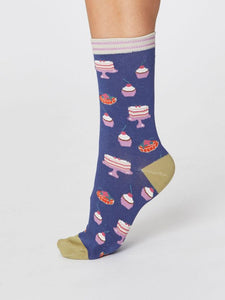 Ladies Cupcake Bamboo Socks