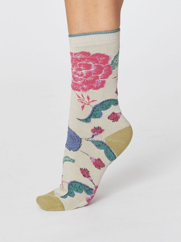 Ladies Grand Floral Bamboo Socks