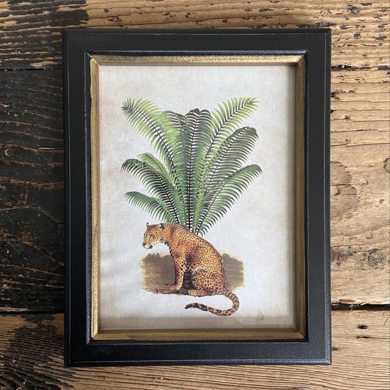 Framed Leopard Print Small