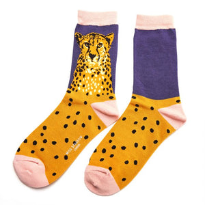 Ladies Wild Cheetah Bamboo Socks