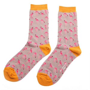 Ladies Flamingo Bamboo Socks