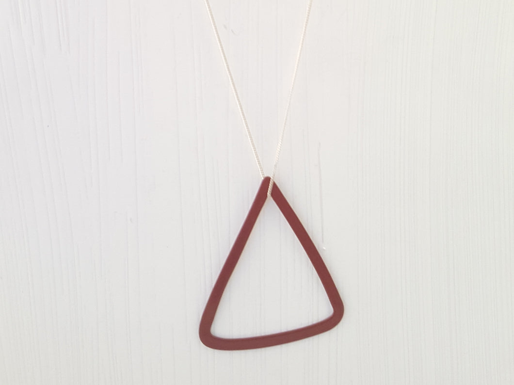 Steel Geometrica Triangle Pendant, Patina