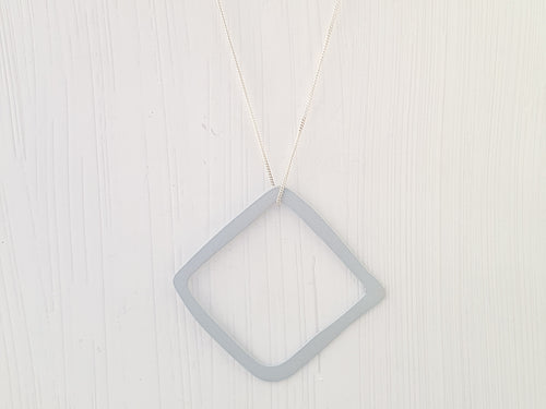 Steel Geometrica Diamond Pendant