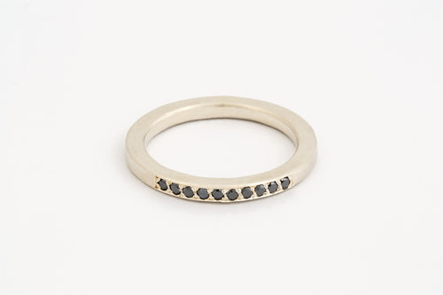 Black Diamond Pavé Ring
