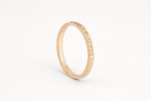 Champagne Diamond Pavè Ring
