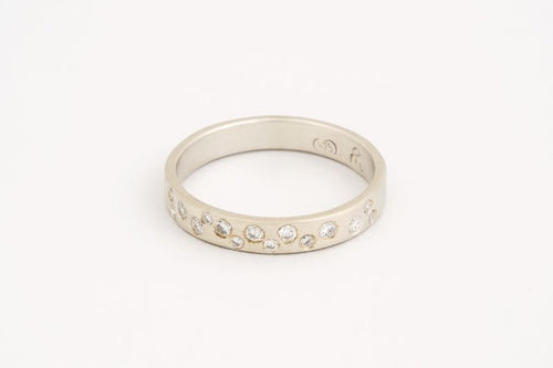Starry Sky Ring White