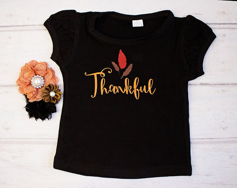 Thanksgiving Outfit..Baby Girl Thanksgiving Top...Girls T-shirt Thanksgiving.Girls Fall Outfit...Trendy Fall Clothing