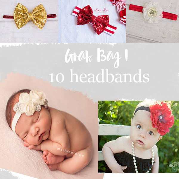 Copy of Black Friday Sale - Grab Bags - Baby Headband - Baby Girl Headbands - Newborn Headband - Baby Shower Gift - Cyber Monday..Stocking Stuffer