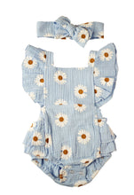 Load image into Gallery viewer, Daisy Romper- Baby Blue