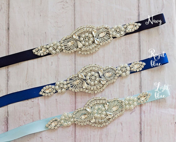 Bridal Sashes..Rhinestone Belt -Flower Girl Sash..Bridal Belt/ Sash..Bridesmaid Coordinating Sashes..Maternity Sash/Wedding Sash