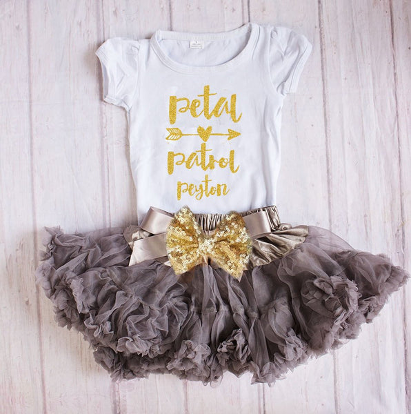 Petal Patrol Outfit, Flower Girl Rehearsal Outfit, Bridal Crew Shirt, Petal Patrol Top, Flower Girl Gift, Wedding Rehearsal
