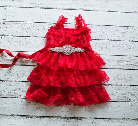 Flower girls dresses, Red Christmas Dress, Flower Girl Dress, Baby Christmas Dress, Red Tulle Flower Girl Dress, Rustic Lace Dress,