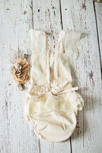 Load image into Gallery viewer, Champagne Boho Baby Girl Romper Set (6M-24M)