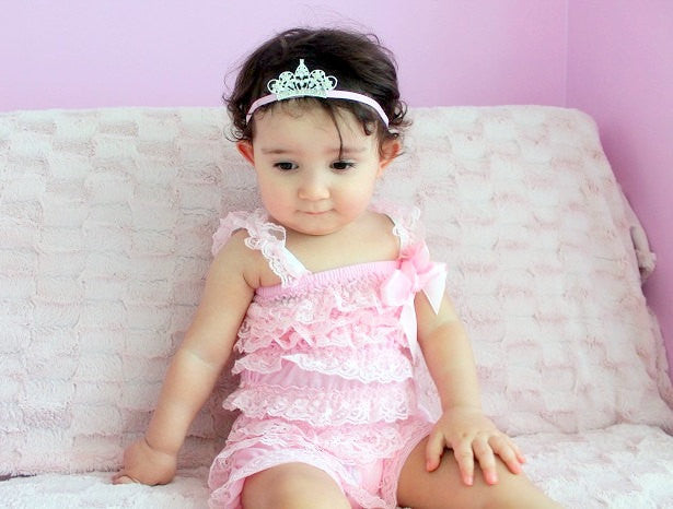 bd66a5ba7 Petti Romper set...Pink petti romper...Princess tiara headband and ...