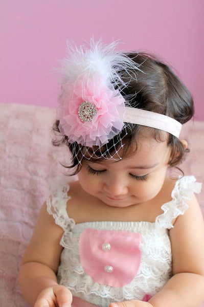 baby headband...baby girl newborn headband...photography props..birthday prop