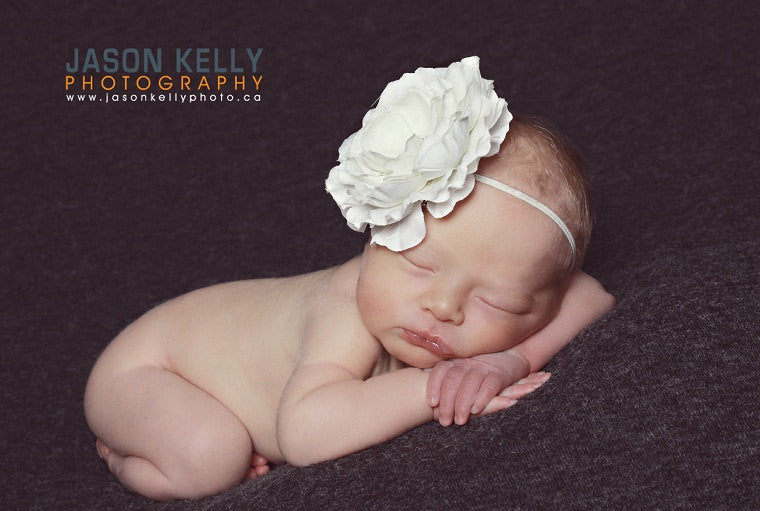 Off White Baby Headband..Christening Headband..Hair Bows..Big Flower  Headband..Newborn Headband..Baptism Headband 0648802b862