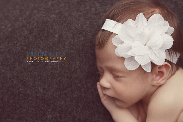 baby headband.white headband.newborn headband.girl headband.children.girl.toddler headband..photography prop,birthday prop