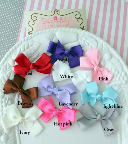 baby girl headband set...baby hair bows...newborn headband..baby gilr headband set....toddlers hair clips...spring colors bow headband set