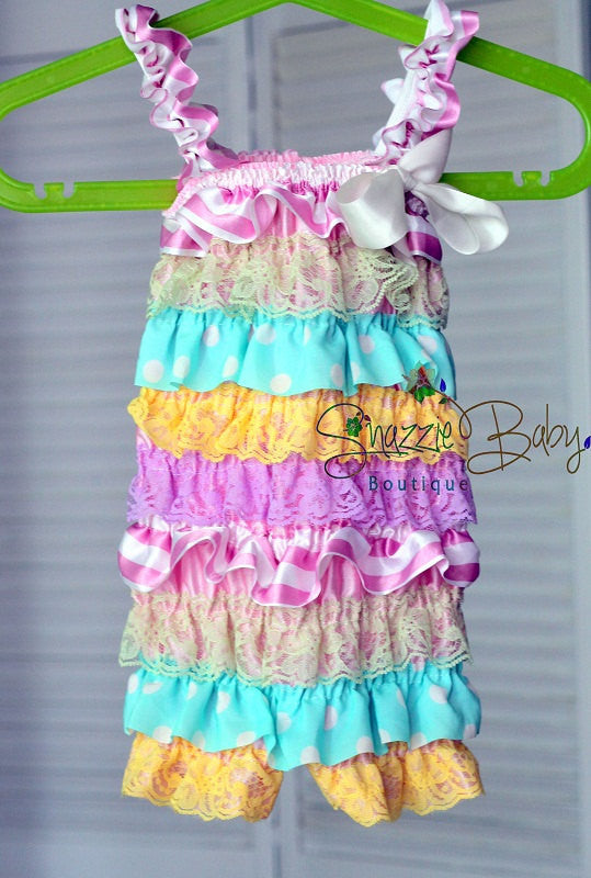 Easter Girl Outfit..lace romper..birthday outfit..pastel colors petti –  Suri Pie Creations 2a7666ead6f6