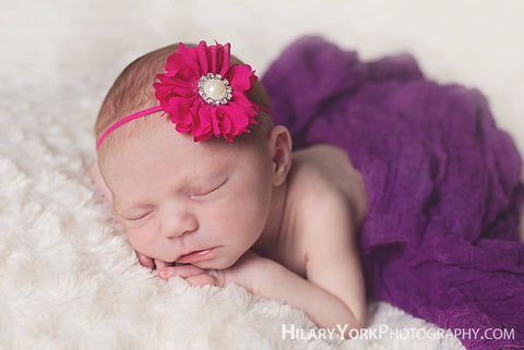 baby valentines headband...newborn headband..baby girl headband...hot pink headband..newborn headband..girl headband..photography prop