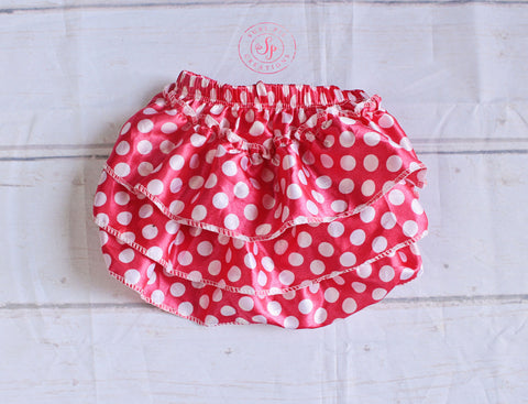 Ruffle Diaper Cover..Baby Ruffle Bloomer Pink Polk Dot Ruffle Bum Baby Bloomer..Baby bloomers..Cake Smash..- Diaper cover - Photo prop