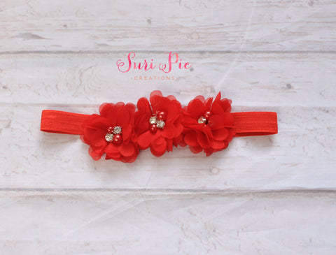 baby Valentines Day headband...newborn red headband..baby girl headband...Red headband..newborn headband..girl headband..photography prop