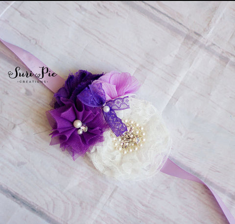 Purple Weddings..Flower Girl Sash..Bridal Sash..Maternity Sash.Romper Sash.Flower Girl Dress Sash..Baby Girl Easter Clothing.Wedding Belts