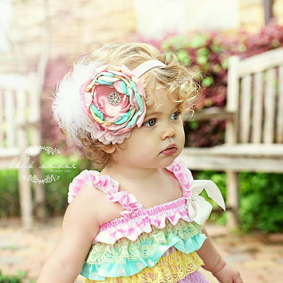 Baby Girl Clothes Lace Petti Romper Set Birthday Outfit Petti