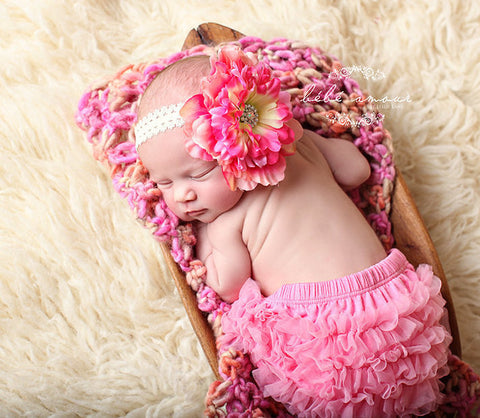 Baby Ruffle Bloomers Headband set ..Pink Lace Ruffle Bum Baby Bloomer .. Baby bloomers .. Ruffle bloomers .. Diaper cover .. Photo prop