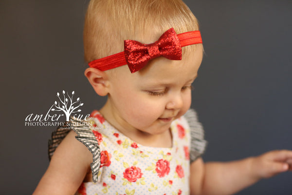 Christmas Baby Headband...Girl Headband..Red Hair Bow...bow headband..Baby headband..Newborn Headband.Accessories.
