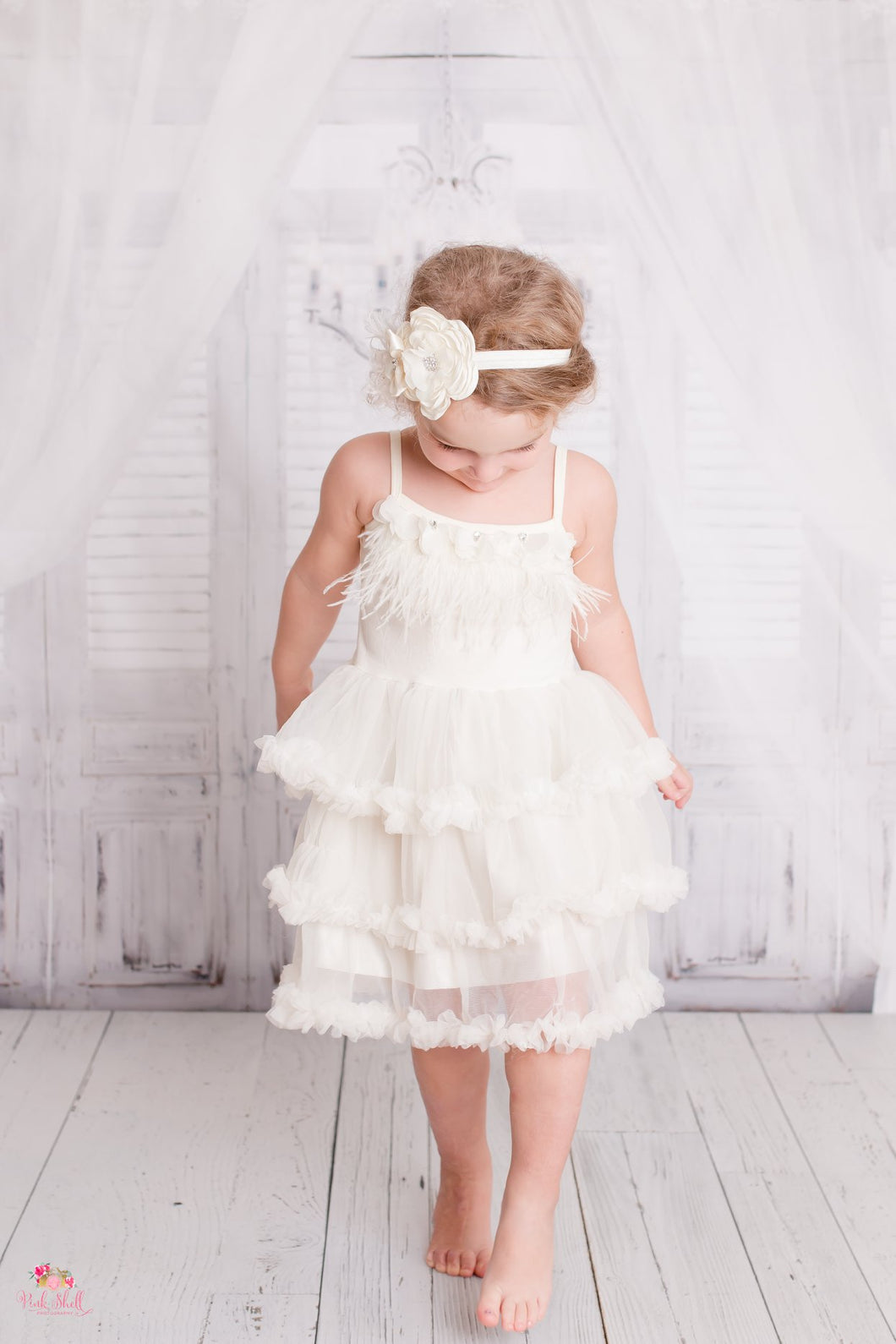Ivory Boho Flower Girl Dress (12M-5 years)