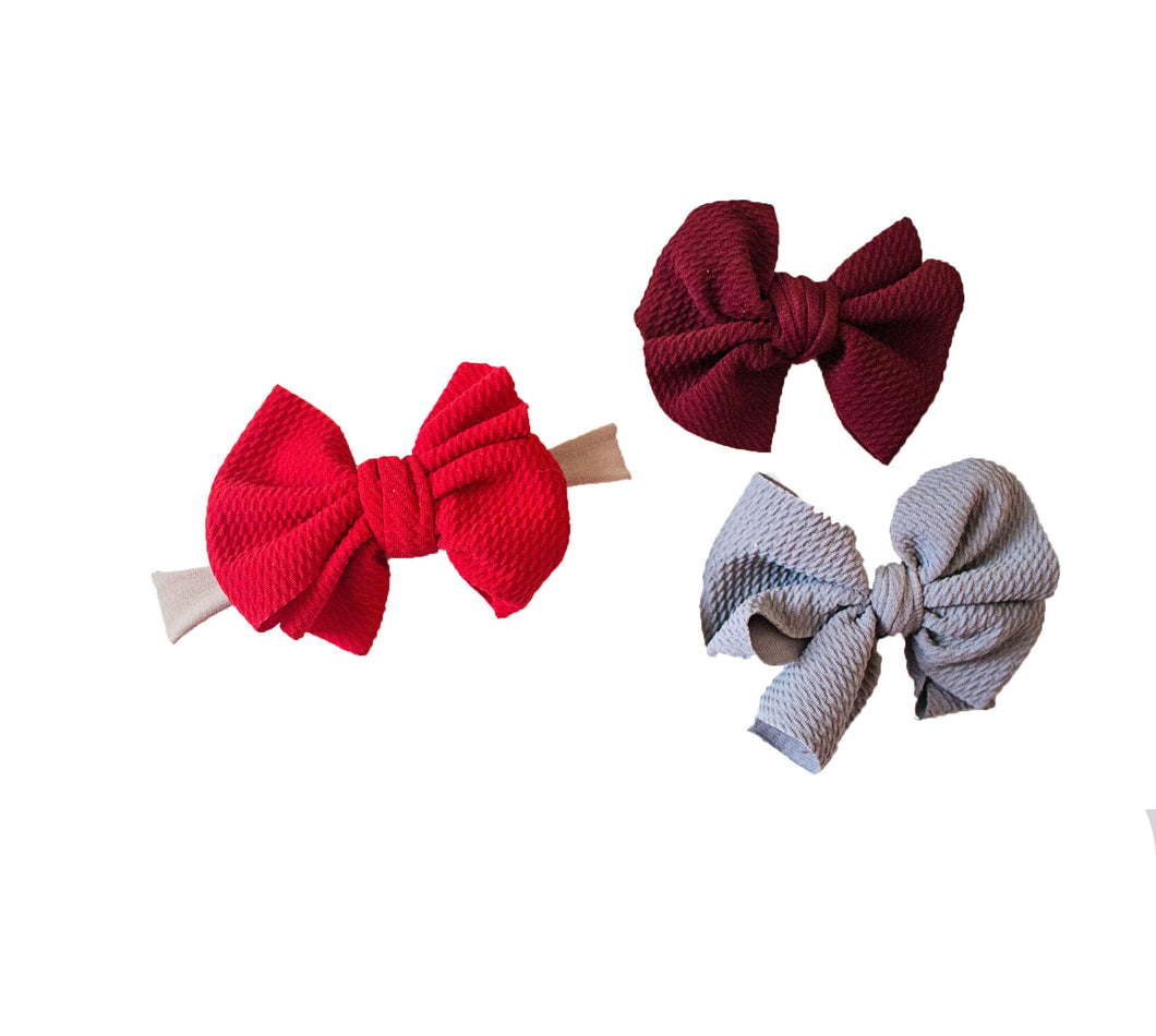 Nylon Hair bow Head wrap (Newborn-Toddler)- More colors available!