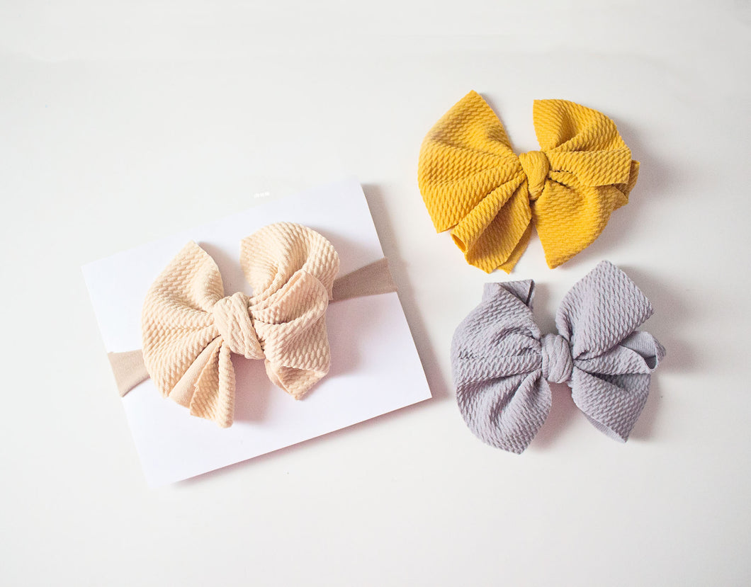 Messy Bow Nylon Headband