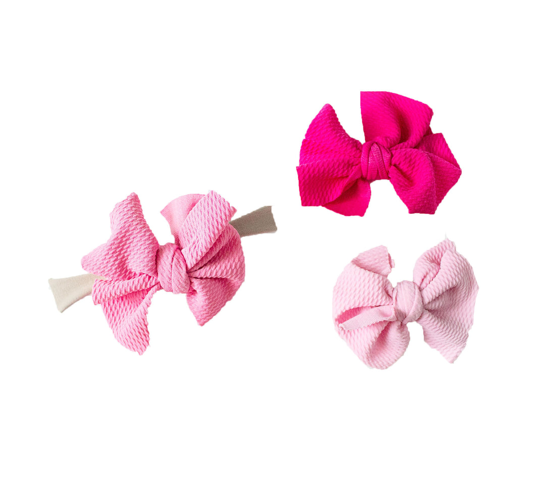Baby Girl Messy Hairbow Headwrap (Newborn-Toddler)