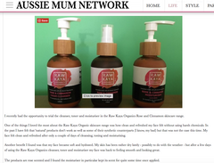 aussie mums network raw kaya organics review