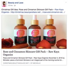 raw kaya organics beauty and lace review