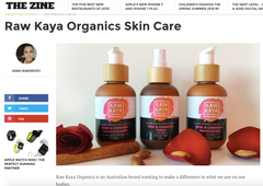 the zine reviews raw kaya organics skincare