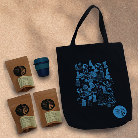 On-The-Go Tote Kit- Buy Freshly Roasted Coffee Beans Online - Blue Tokai Coffee Roasters