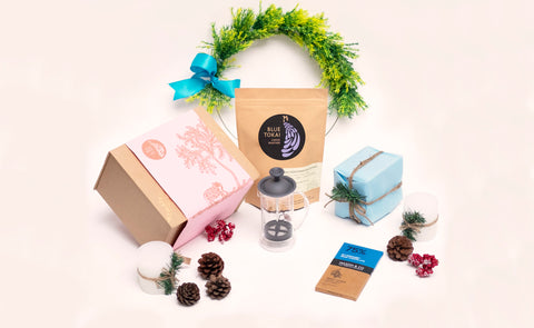 Slim French Press Gift Box- Buy Freshly Roasted Coffee Beans Online - Blue Tokai Coffee Roasters