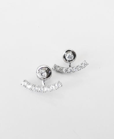 BAR TWO-PIECE STUD EARRINGS