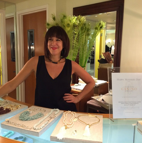 Catherine Canino at her retail space in the Oscar Blandi Salon.
