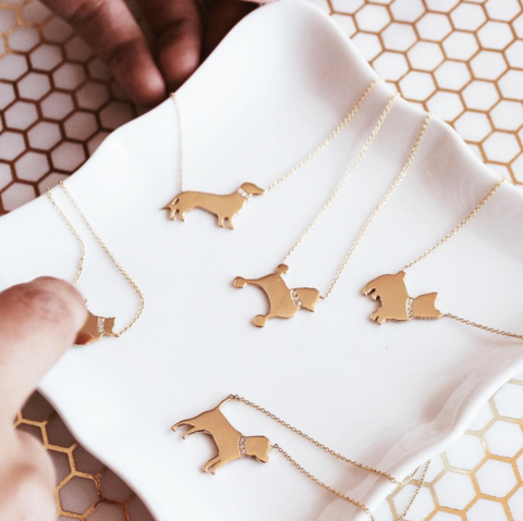 Dog Necklaces from Carrie Cramer Fine Jewelry