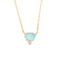 Opal & Diamond Fiore Pendant Necklace