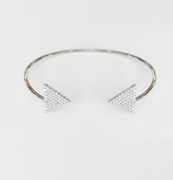 Karen Triangle Sterling Silver Stackable Bracelet