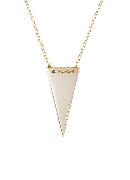 Strength Triangular Pendant Necklace